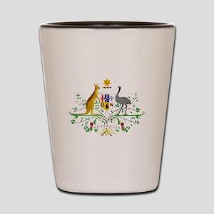 Australian Emblem Shot Glass