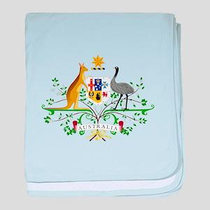 Australian Emblem baby blanket