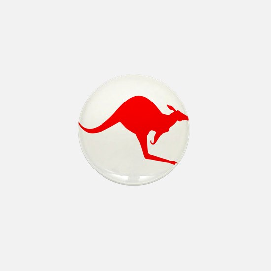Australian Kangaroo Mini Button