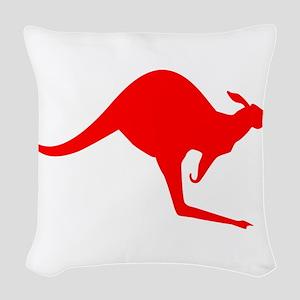 Australian Kangaroo Woven Throw Pillow