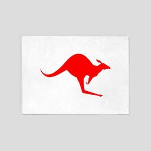 Australian Kangaroo 5'x7'Area Rug