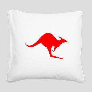 Australian Kangaroo Square Canvas Pillow