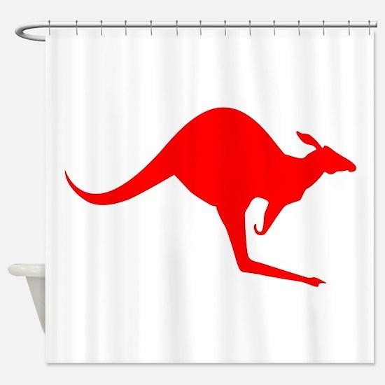 Australian Kangaroo Shower Curtain