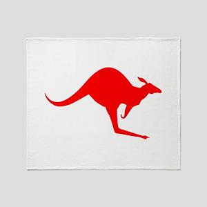Australian Kangaroo Throw Blanket