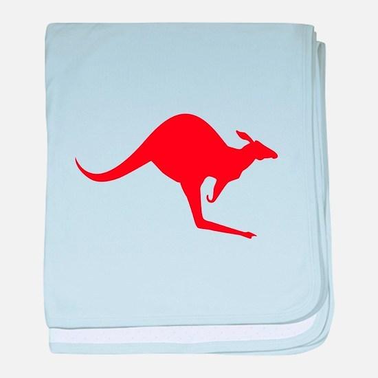 Australian Kangaroo baby blanket