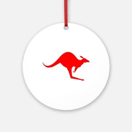 Australian Kangaroo Ornament (Round)