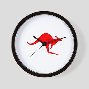 Australian Kangaroo Wall Clock
