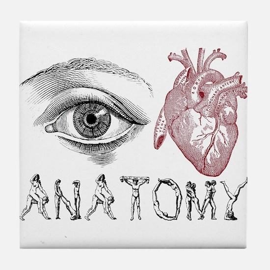 Eye Heart Anatomy Tile Coaster