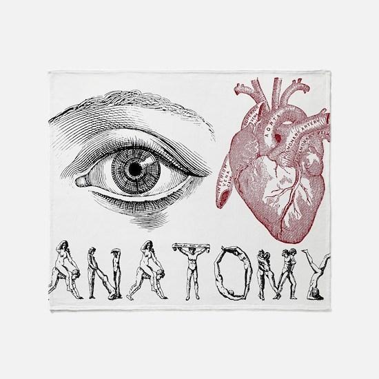 Eye Heart Anatomy Throw Blanket