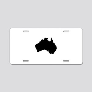Australian Map Aluminum License Plate