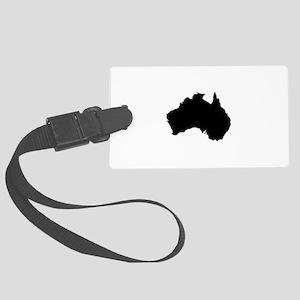 Australian Map Luggage Tag