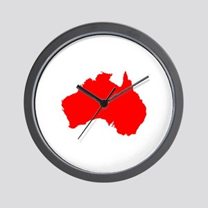 Australian Map Wall Clock