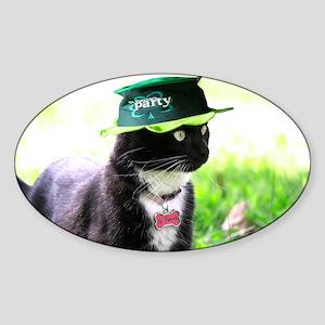 Saint Patrick kitty Sticker