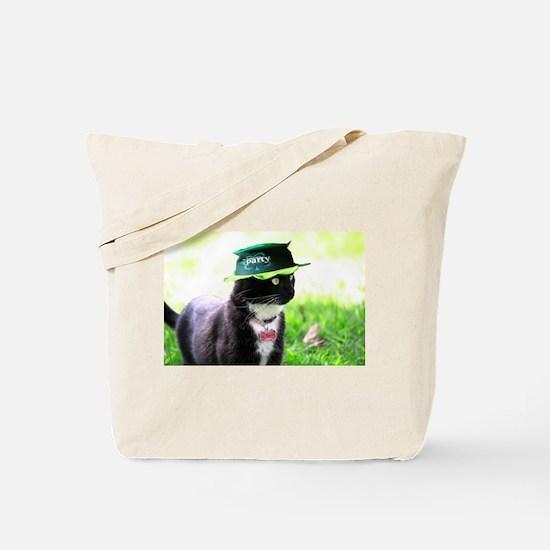 Saint Patrick kitty Tote Bag
