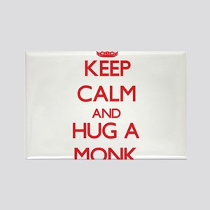 Keep Calm and Hug a Monk Magnets