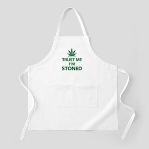 Trust me I'm stoned marijuana Apron