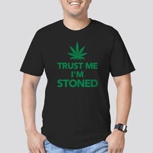 Trust me I'm stoned ma Men's Fitted T-Shirt (dark)