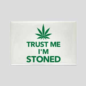 Trust me I'm stoned marijuana Rectangle Magnet