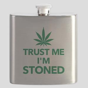 Trust me I'm stoned marijuana Flask