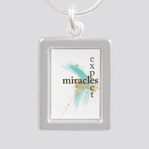 Expect Miracles Silver Portrait Necklace