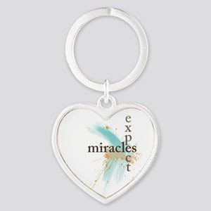 Expect Miracles Heart Keychain