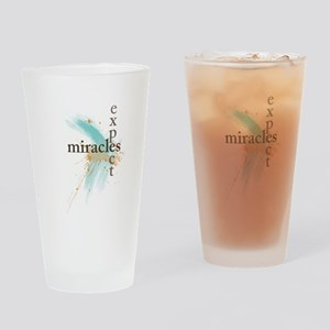 Expect Miracles Drinking Glass