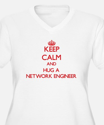Keep Calm and Hug a Network Engineer Plus Size T-S