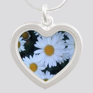 Darling Daisies Silver Heart Necklace