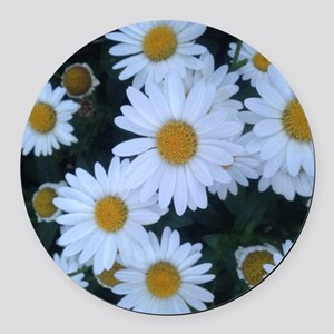 Darling Daisies Round Car Magnet