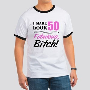Fabulous Attitude 50th Birthday Ringer T