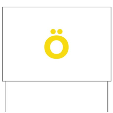 Letter Ö Yellow Yard Sign by lettersandnames