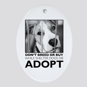 Adopt Puppy Ornament (Oval)