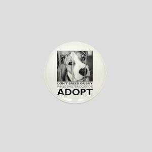 Adopt Puppy Mini Button