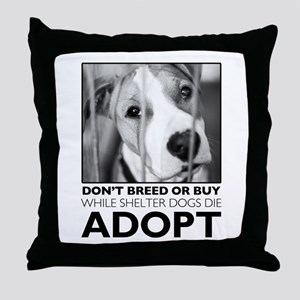 Adopt Puppy Throw Pillow
