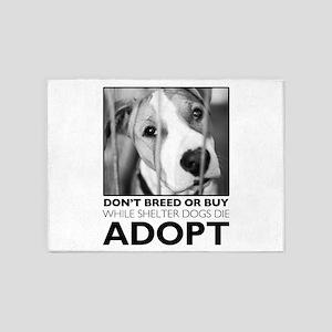 Adopt Puppy 5'x7'Area Rug