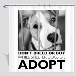 Adopt Puppy Shower Curtain