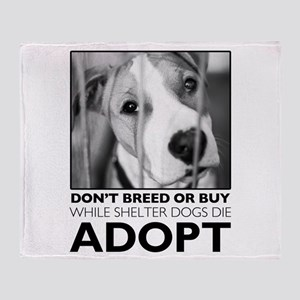 Adopt Puppy Throw Blanket