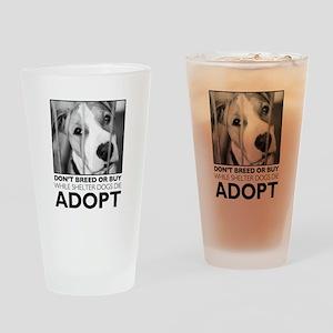Adopt Puppy Drinking Glass