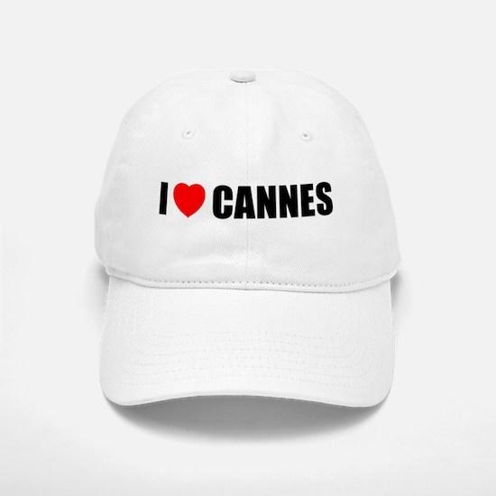 I Love Cannes, France Baseball Baseball Cap