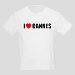 I Love Cannes, France Kids Light T-Shirt