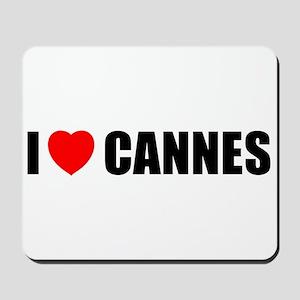 I Love Cannes, France Mousepad
