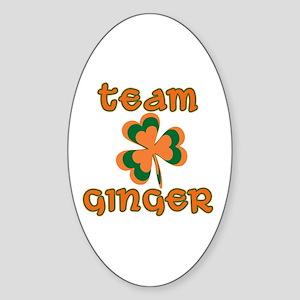 TEAM GINGER Sticker (Oval)