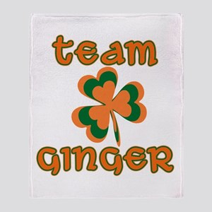 TEAM GINGER Throw Blanket