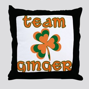 TEAM GINGER Throw Pillow