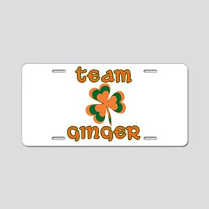 TEAM GINGER Aluminum License Plate