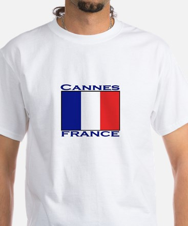 Cannes, France White T-Shirt