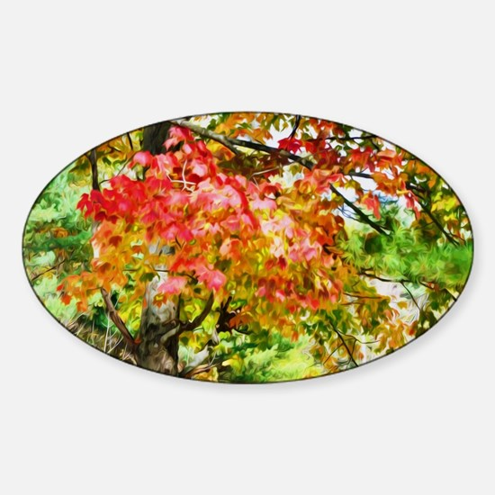 3 Colors Of The Nature 3 Sticker (Oval)