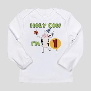 Holy Cow 1st Birthday Long Sleeve T-Shirt