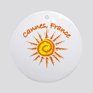 Cannes, France Ornament (Round)
