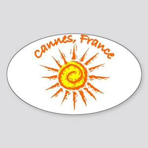 Cannes, France Oval Sticker
